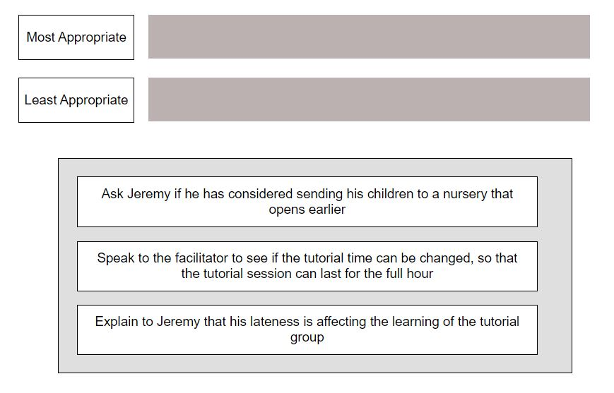 ucat situational judgement practice question answer type2