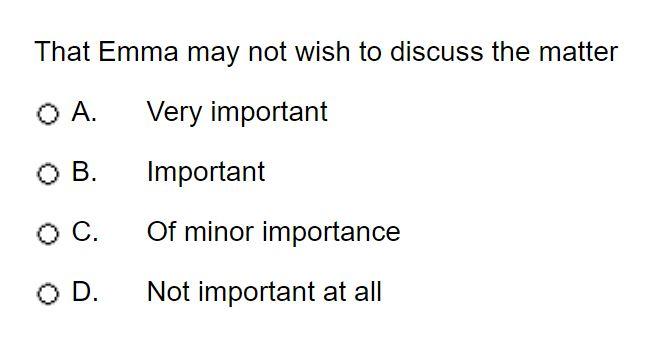 ucat situational judgement practice answer 1